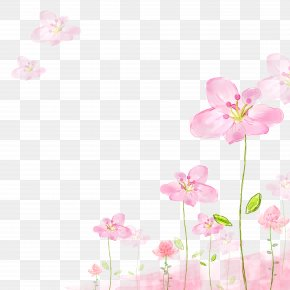Japanese Small Fresh Pink Flower - Flower Pink Petal PNG