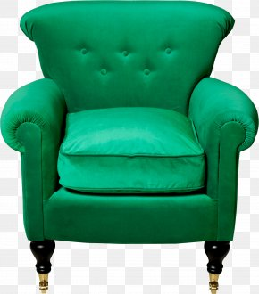 Green Armchair Image - Chair Furniture Clip Art PNG
