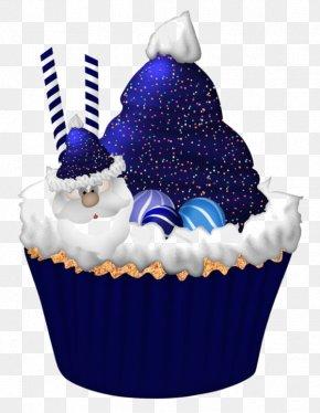 Blue Santa Claus Cake - Cupcake Christmas Cake Birthday Cake Clip Art PNG