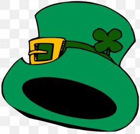 Happy St Patricks Day Clipart - Hat Shamrock Saint Patricks Day Clip Art PNG