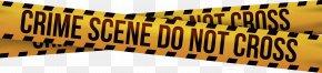 Police Tape - Barricade Tape Crime Scene Adhesive Tape Police Clip Art PNG