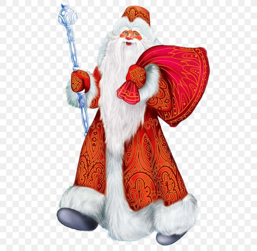 Ded Moroz Snegurochka Grandfather New Year Santa Claus, PNG, 556x800px, Ded Moroz, Christmas, Christmas Card, Christmas Decoration, Christmas Ornament Download Free