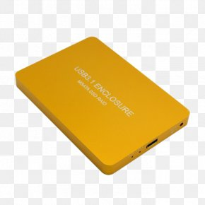 Yellow Mobile Hard Disk 2t - Hard Disk Drive Portable Storage Device Icon PNG