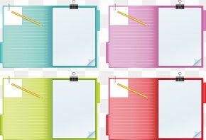 Notebook - Laptop Paper Notebook Clip Art PNG