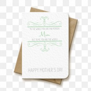 Mother's Day Card - Mother's Day Wedding Invitation Paper Greeting & Note Cards PNG