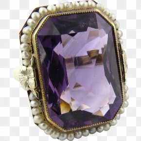 Vintage Gold - Amethyst Jewellery Ring Gemstone Gold PNG
