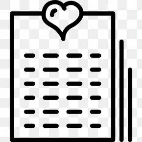 Linear Calendar - Heart Valentine's Day Romance Cupid Love PNG