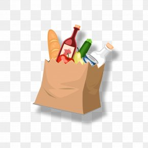 A Bag Of Food - Food Supermarket Bag Bread PNG