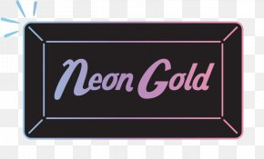 Neon Gold Records Logo New York City Independent Record Label PNG