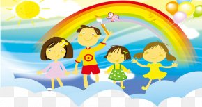 Children Play - Poster Art Painting PNG
