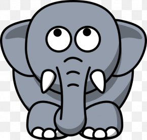 Animated Elephant Clipart - Elephant In The Room Grey Cuteness Clip Art PNG