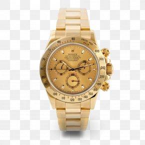 Gold - Gold Rolex Daytona Watch Rolex Day-Date PNG