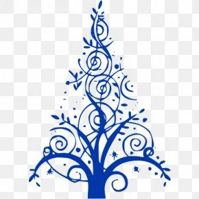 Christmas Tree - Christmas Tree Blue Clip Art PNG