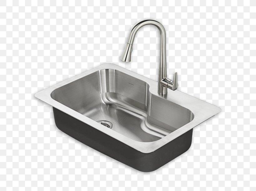 Kitchen Sink Stainless Steel American Standard Brands, PNG, 613x613px, Sink, American Standard Brands, Bathroom, Bathroom Sink, Bowl Download Free