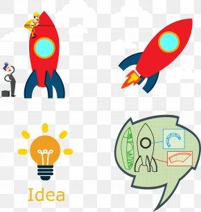 Creative Rocket - Flight Rocket Graphic Design Clip Art PNG