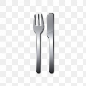 Fork And Knife - Fork Spoon Black And White PNG