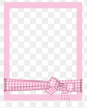 Hand-painted Picture Frame Cartoon Picture Frame,Pink Plaid Photo Frame - Picture Frame PNG
