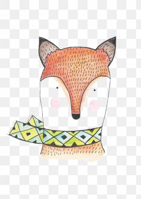 Fox - Watercolor Painting Drawing Illustration PNG