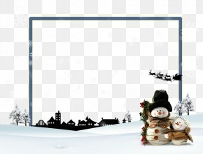 Snow Snowman Border - Snow Download PNG