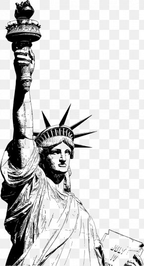 Usa Statue Of Liberty - Statue Of Liberty Drawing Art PNG