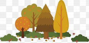 Mature Crown Pine Cones - Text Cartoon Leaf Fruit Illustration PNG