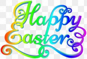 Happy Easter Transparent Background Top - Clip Art Logo Brand Line Number PNG