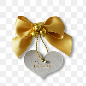 Free To Pull The Bow Tag Creatives - Shoelace Knot Yellow PNG