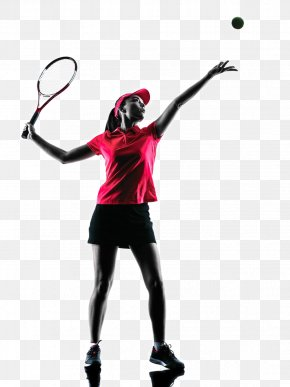 Tennis Player Backlit Photo - Tennis Player Racket Stock Photography PNG