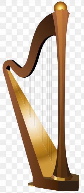 Harp Transparent Clip Art Image - Celtic Harp Clip Art PNG