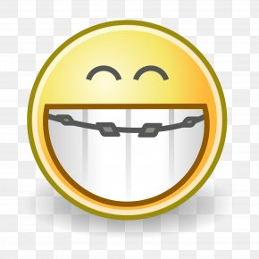 Braces - Smiley Emoticon Dental Braces Face Orthodontics PNG