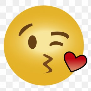 Emoji - Emoji Kiss Emoticon Heart Smiley PNG
