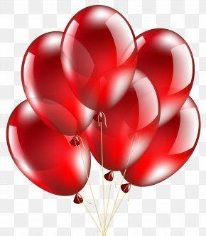 Red Balloons Transparent Clip Art Image - Balloon Clip Art PNG