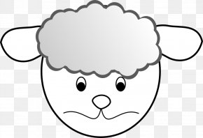 Black And White Sad Face - Boer Goat Sheep Clip Art PNG