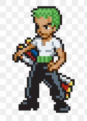 Lemon Piece - Roronoa Zoro Monkey D. Luffy Vinsmoke Sanji Zorro Pixel Art PNG