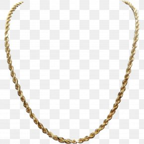 Necklace - Necklace Jewellery Rope Chain Gold PNG