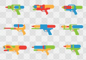 Children's Water Gun Collection - Water Gun Toy Firearm Pistol PNG