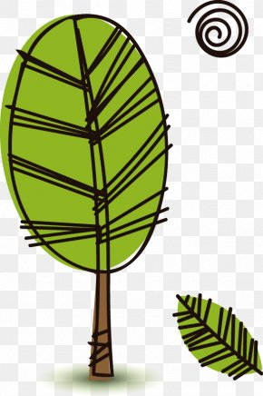 Hand-painted Trees In Spring - Drawing Cartoon Clip Art PNG