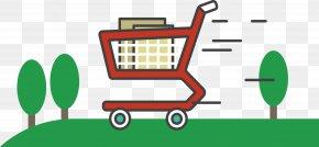 Green Shopping Cart - E-commerce Green Online Shopping Clip Art PNG