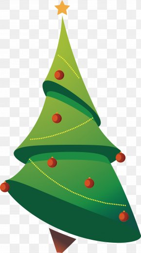 Cartoon Christmas Tree Vector - Christmas Tree Clip Art PNG