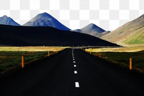 Highway Sky - Mountainous Landforms Highland Road Natural Landscape Mountain PNG