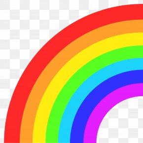 Rainbow - Emoji Rainbow Text Messaging SMS Sticker PNG