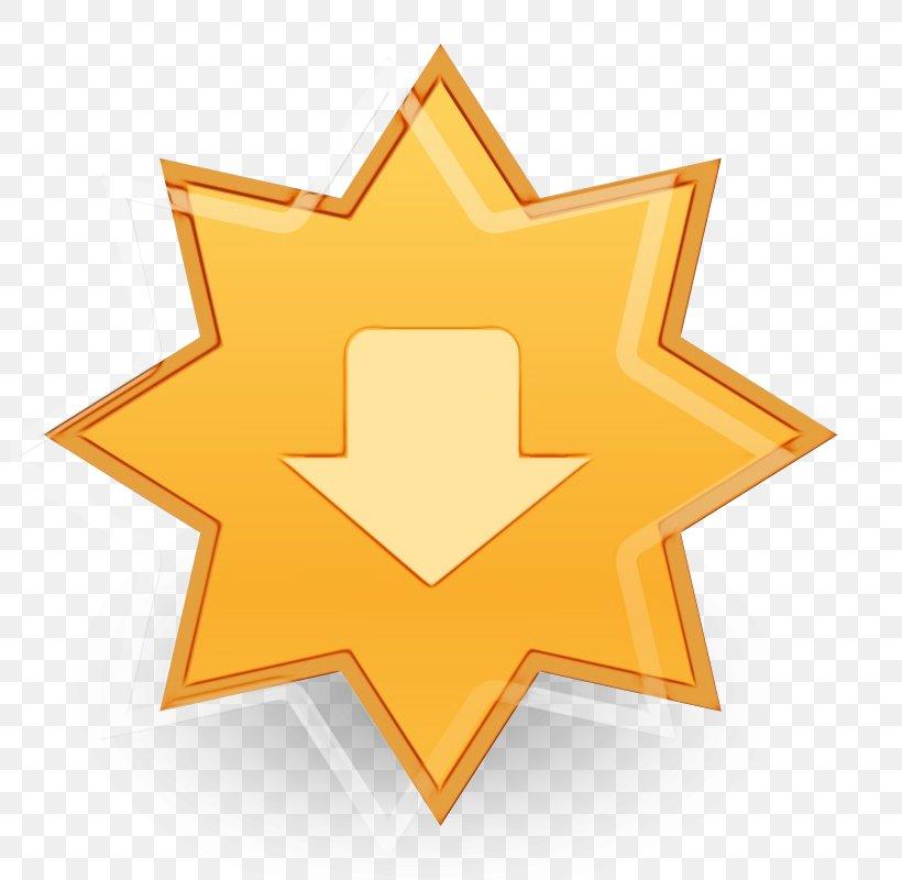 Orange, PNG, 800x800px, Watercolor, Logo, Orange, Paint, Star Download Free