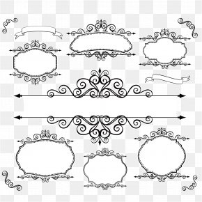 Lines Lace Vector Material - Picture Frame Ornament Clip Art PNG