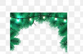 Christmas Decoration Border - Christmas Ornament Christmas Tree Christmas Lights Santa Claus PNG