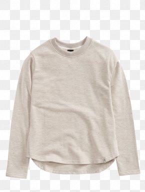 Tshirt - Cleptomanicx Leonie Heather Creme T-shirt Sleeve Sweater Crew Neck PNG