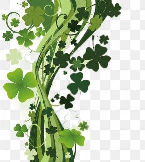 Green Clover - Four-leaf Clover Shamrock Wallpaper PNG