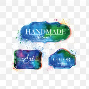 Vector Watercolor Decoration - Label Watercolor Painting Stock Illustration PNG