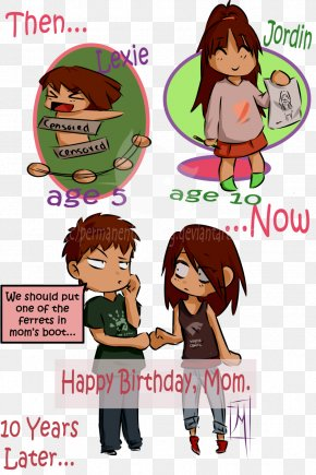 Happy Birthday Mother - Comics Cartoon Human Behavior Homo Sapiens PNG