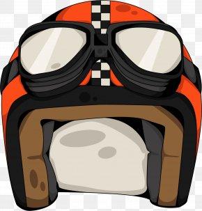 Vector Hand-painted Helmet - Goggles Euclidean Vector PNG