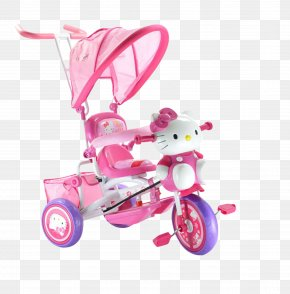 Hello Kitty Stroller - Hello Kitty Child Baby Transport PNG